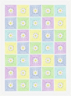 Baby Daisy Mae Quilt Afghan Blanket Crochet Pattern - $4.50