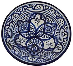 12 inches diameter by 3 inches deep for casual entertaining and special occasions This is an authentic, handcrafted Moroccan plate . Moroccan Plates, Moroccan Blue, Ceramic Plates, Decorative Plates, Moroccan Jewelry, Handmade Wall Hanging, Blue Orchids, Wall Treatments, Plates On Wall