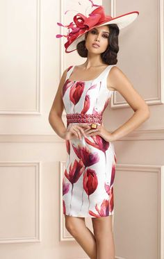 3020112 - Zeila 3020011 taffeta print occasion dress with matching jacket available at Blessings Occasion Wear Boutique Brighton, East Sussex BN1 5GG Telephone: 01273 505766