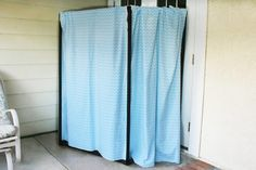 Create a custom room divider out of PVC pipe to add some privacy to any room of the house, or even an outdoor area.