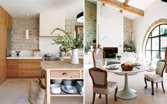 Taking a tour of this Provence home, which was once a dilapidated 19th century oil mill, is like breathing a breath of fresh air. I love that the old characteristics were preserved and juxtaposed with modern and retro elements.