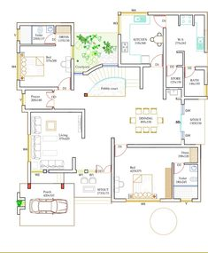Free House Plans, Sims House Plans, House Layout Plans, Best House Plans, House Layouts, House Floor Plans, Mansion Homes, House Plans Mansion, Duplex House Plans