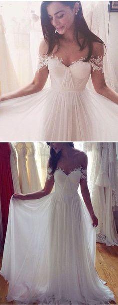 Beach A-Line Wedding Dresses,Simple White Wedding Dresses,Best Wedding Dresses