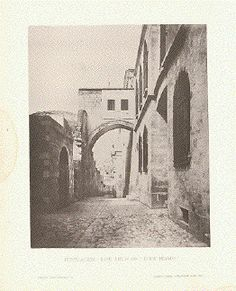 """Jerusalem - The Arch of"" Ecce Homo "" Text photograph published by Selmar Hess in New York, ca Antique Prints, Palestine, Jerusalem, Once Upon A Time, Arch, Photograph, York, Antiques, Painting"