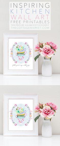 Inspiring Kitchen Wall Art Free Printables - The Cottage Market