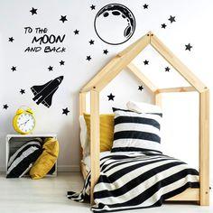 TO THE MOON AND BACK NAKLEJKI NA ŚCIANĘ - Naklejki na ścianę dla dzieci - Wystrój pokoju dziecięcego - Stworzone z miłością w Łódź, Polska przez Dekoracjan | Dla wszystkich, Dla chłopców, Dla dziewcząt |  ♥ DaWanda ♥ Handmade ♥ Unikalne produkty ♥ Pomysły na prezent ♥ DIY ♥ Design ♥ Stworzone z sercem ♥
