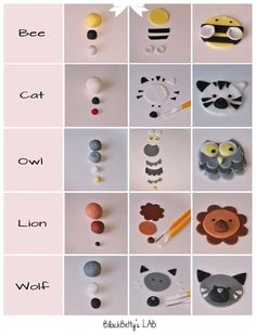 Animal cup cake toppers by BlackBetty's LAB