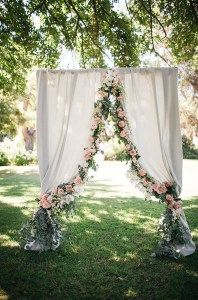 Garden wedding arch ideas