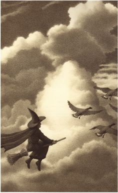Hey-ho for Halloween! All the witches to be seen, Some in black, and some in green, Hey-ho for Halloween. Halloween Books, Halloween Images, Holidays Halloween, Vintage Halloween, Halloween Witches, Halloween Illustration, Book Illustration, Which Witch, Season Of The Witch