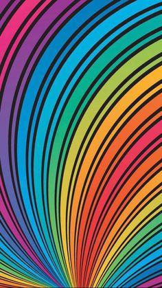Pop Art Wallpaper, Rainbow Wallpaper, Striped Wallpaper, Colorful Wallpaper, Mobile Wallpaper, Pattern Wallpaper, Wallpaper Backgrounds, Wallpapers, Galaxy Phone Wallpaper