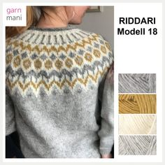 no - Spesialist på islandsk ull - Lilly is Love Knitting Machine Patterns, Fair Isle Knitting Patterns, Sweater Knitting Patterns, Knit Patterns, Pullover Design, Handgestrickte Pullover, Sweater Design, Icelandic Sweaters, Crochet Wool