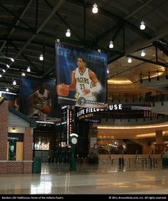 Bankers Life Fieldhouse lobby, Indianapolis, Indiana.