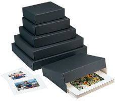 "Museum Storage Boxes - Black (3"" Depth)"