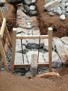 Building a Stone Foundation   This Cob House