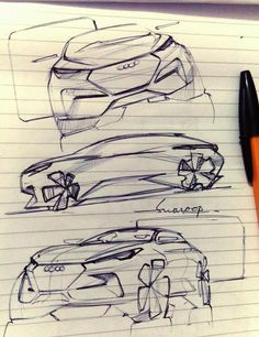 fashion sketch how to draw Sketchbook Drawings, Car Drawings, Illustration Sketches, Car Design Sketch, Car Sketch, Automotive Design, Auto Design, Car Side View, Cool Sketches