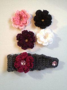 Handmade crocheted headband kids ear warmer by nessjude16 on Etsy, $17.00