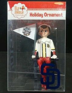 Elf On A Shelf Xmas Ornament San Diego Padres All Star 2016 MLB Stocking Stuffer