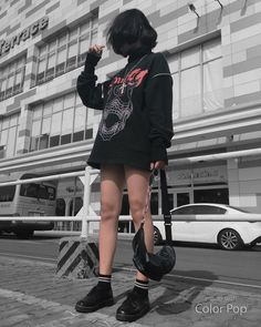Hipster Outfits, Swag Outfits, Trendy Outfits, Girl Outfits, Ulzzang Fashion, Ulzzang Girl, Korean Fashion, Korean Photo, Athleisure Outfits
