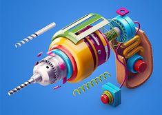 New 3D Artworks by Zhivko Terziivanov | Inspiration Grid | Design Inspiration