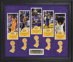 Not sure if I have anywhere to put this, yet. BUT, I will definitely try. Kobe Bryant Los Angeles Lakers 5-Time NBA Champion Framed Photographs with Trophy Logos - L. E of 500