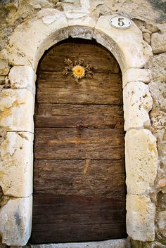 The doors are all from small villages in the Herault department of France.