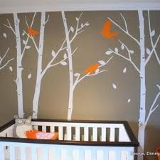 This is an amazing idea for a nursery.  Love the colors.  Love the mural.
