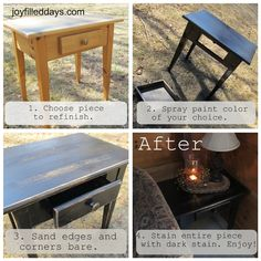 "Joy-Filled Days » DIY Tutorial for Farmhouse ""Primitive"" Look Furniture"