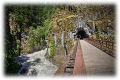 Othello Tunnels at Coquihalla Canyon Provincial Park just outside of Hope, BC