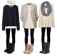 Outfits con leggings, encuentra más opciones para combinar esta prenda en http://www.1001consejos.com/outfits-con-leggings/