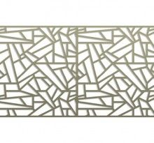 Modern Architecture Pattern pattern library | bok modern a12 railing, fences gates, metal