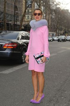 ON THE STREET AT PARIS FASHION WEEK 2012