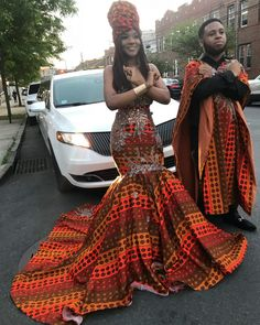 Nupol K. went to prom regal ankara style - Nupol K. went to prom regal ankara style Source by - African Wedding Attire, African Attire, African Wear, African Inspired Fashion, African Print Fashion, Africa Fashion, African Prom Dresses, African Fashion Dresses, African Dress Styles