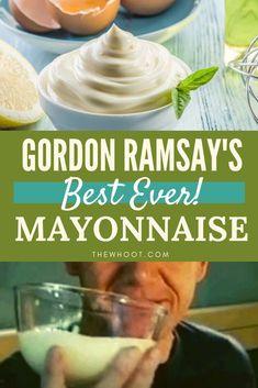 Homemade Mayonaise, Mayonaise Recipe, Aioli Recipe, Welsh Recipes, Scottish Recipes, Turkish Recipes, Best Foods Mayonnaise Recipe, Gordon Ramsay Dishes, Sauce Recipes