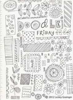 Yay... its Friday. Time for some random creative doodling. These are doodles I created while watching American Idol with my husba...
