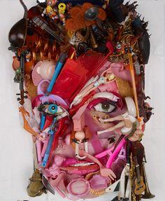 David Bowie, Saatchi Gallery, Giuseppe Arcimboldo, 3d Portrait, Collage Portrait, Portraits, Creation Art, Trash Art, Foto Art
