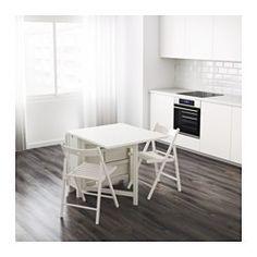 NORDEN Mesa alas abatibles, blanco - IKEA
