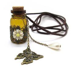 intage Harry Potter Magic Potion Perfume Bottle Pendant Necklace