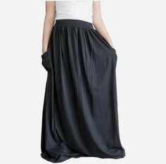 NEW Design Extra Large/Long Skirt Comfortable,Choose Your Size, Cotton Jersey In Black. on Etsy, $47.00