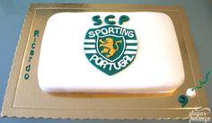Emblema SCP Bolo Sporting, Scp, Grande, Sweets, Sugar, Cakes, Party, Desserts, Pretty Cakes