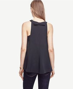 Thumbnail Image of Color Swatch 6600 Image of Back Bow Sleeveless Top