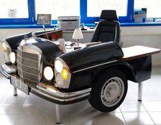 "Cool car desk image via ""I love creative designs and unusual ideas"" at www.Facebook.com/LoveDesignCreatecom"