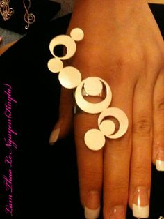 Sterling silver Wave circle ring