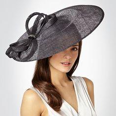 Dark grey curled trim fascinator - Fascinators - Hats & fascinators - Women -