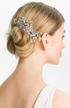 Halo & Co. 'English Violet' Crystal Hair Comb at Nordstrom