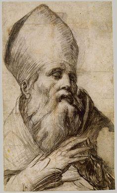 Parmigianino (Girolamo Francesco Maria Mazzola): Bishop Saint in Prayer (1995.306) | Heilbrunn Timeline of Art History | The Metropolitan Museum of Art