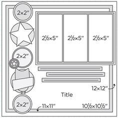"Scrapbook+Page+Sketches | 12x12"" Scrapbook Page Sketches 241-270: Scrapbook Page Sketch 377"