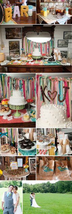 Dessert bar with fabric strip backdrop, whoopie pies, and cake pops!