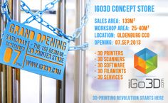Printer Shop in Germany announced that first specialised local store for printing will have its grand opening in Oldenburg on of September. 3d Printing Store, 3d Printing News, 3d Printing Materials, 3d Printing Industry, 3d Scanners, Sale Store, Printer Scanner, Industrial Revolution, 3 D