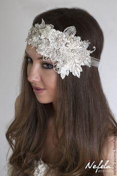 Wedding band / Купить Кружевная повязка для волос или свадебный пояс - айвори, свадебное украшение, свадебные аксессуары