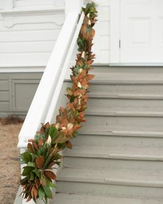 Subtle Gilding-- magnolia leaves are sturdy and gorgeous! Look great, no matter the season, and have a special affinity for us Southern girls!